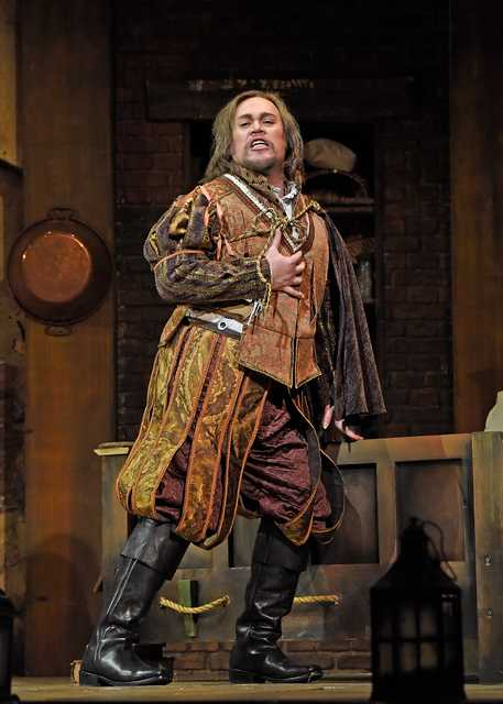 A scene from the The Dallas Opera production of Falstaff.