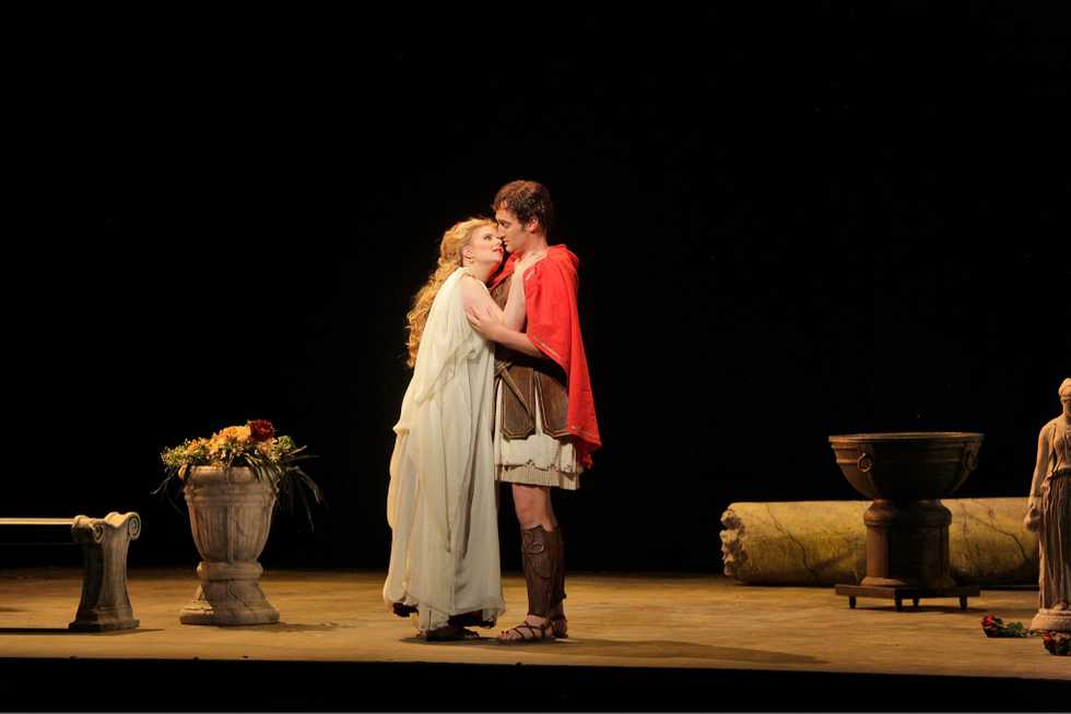 A scene from the Santa Fe Opera production of Troilus & Cressida (Scenes).