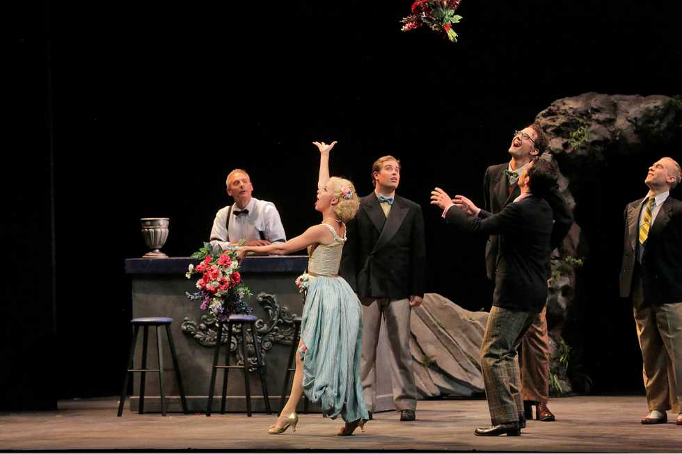 A scene from the Santa Fe Opera production of Ariadne auf Naxos (Scenes).