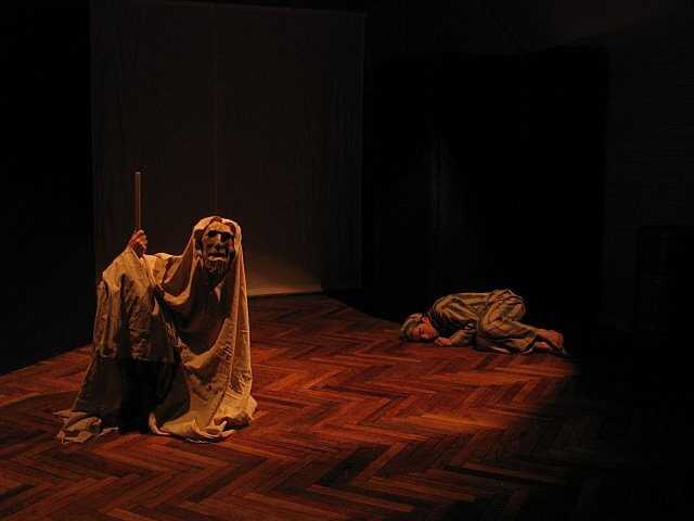 A scene from the Moscow Arts Theature production of If This is a Man.